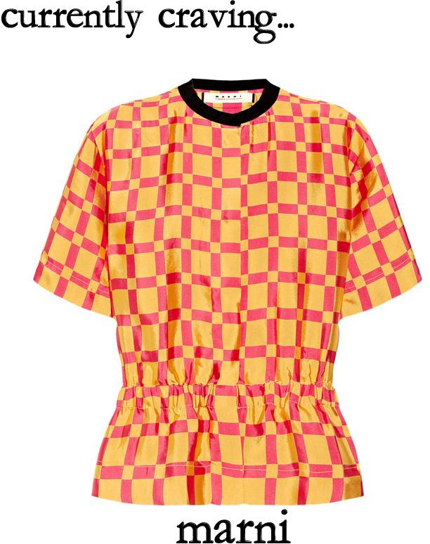 marni printed sateen twill blouse