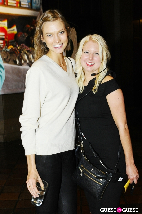 Supermodel Karlie Kloss with Resolution Project's Director of Events, Kelsey Overby, getting ready for the event!