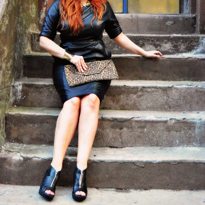 asos leather midi dress