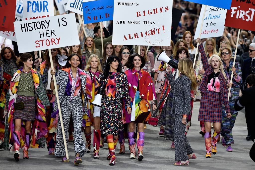"Chanel's ""Feminist"" Protest, SS'15"