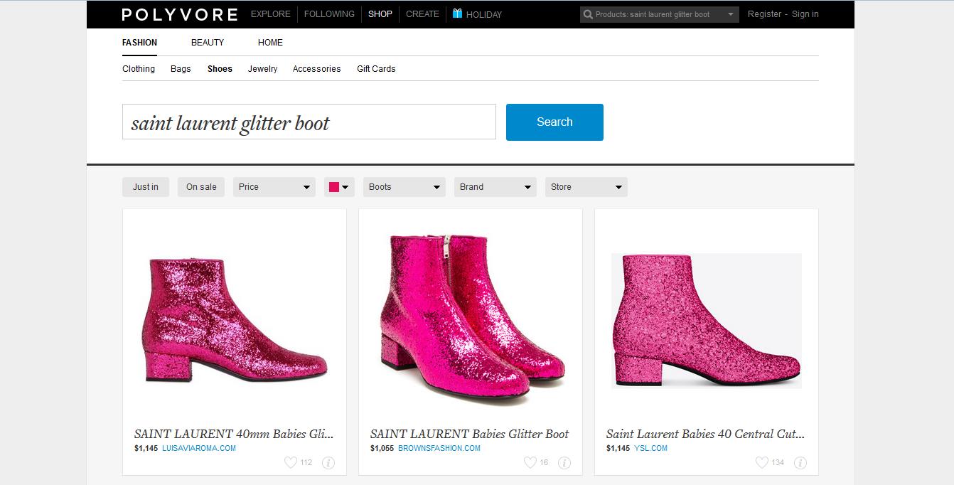 glitter boot