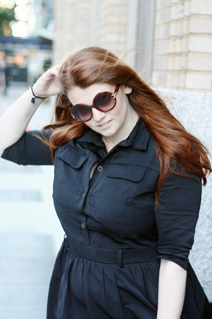 Fall Black Shirtdress