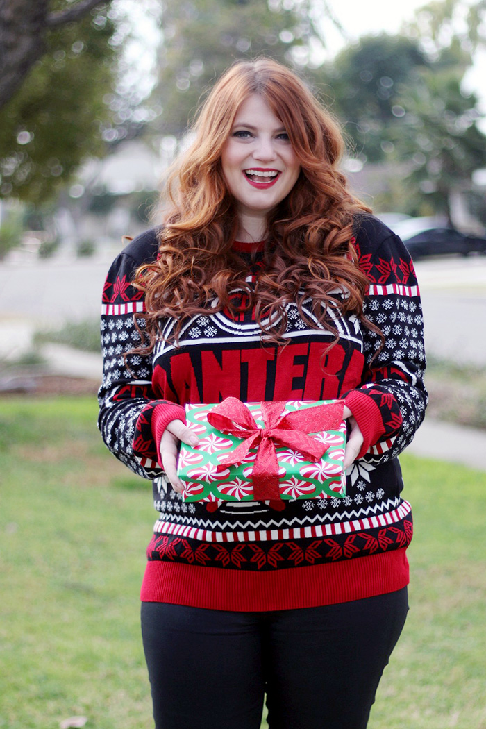 Pantera Holiday Sweater Christmas Present