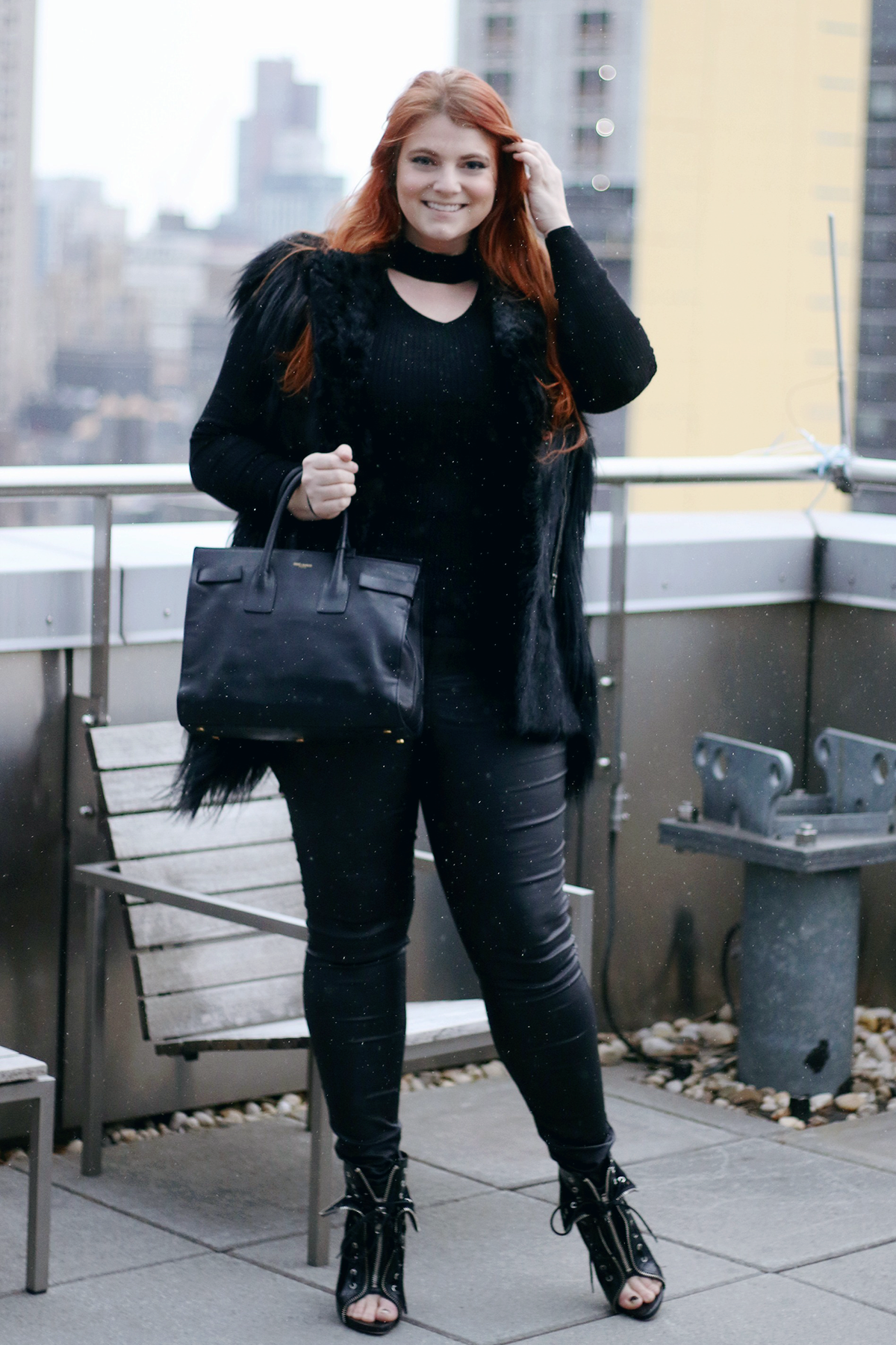 fashion to figure faux leather leggings