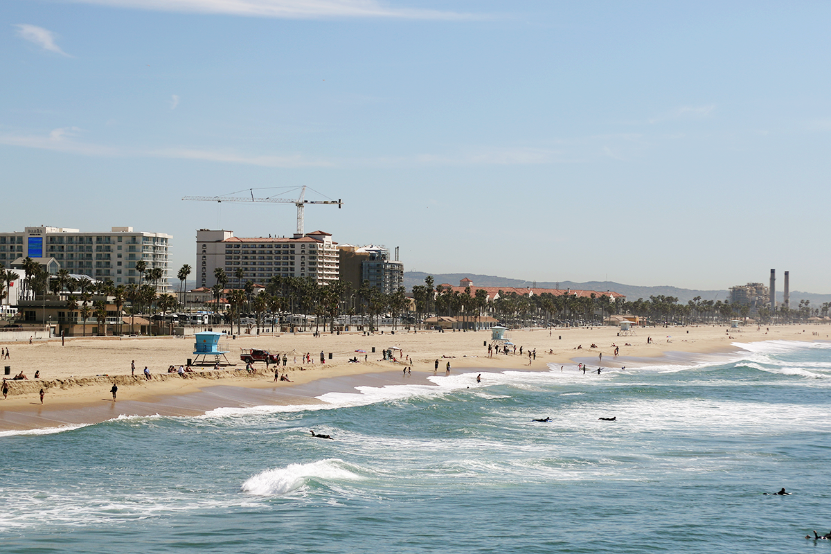 Huntington Beach in March